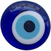 Imán de nevera pequeño con diseño de ojo turco, talismán de la fortuna, azul, ideal como decoración o regalo
