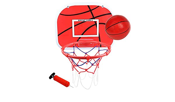 Tonyko Portable Hanging Basketball Hoop Punch-Free Iron Basket Hoop for Children of 90CM-120CM Height for Outdoor or Indoor Sports