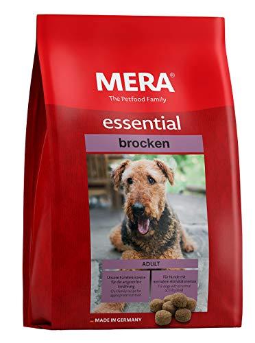 MERA Essential Hundefutter Brocken, Trockenfutter mit extra großen Kroketten für ausgewachsene Hunde mit normaler Aktivtät, 1er Pack (1 x 12.5 kg)