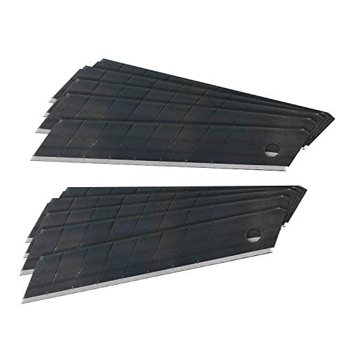SolidWork 18mm Ersatzklingen für Cuttermesser - ultrascharfe Klingen für Teppichmesser, Cutter etc.