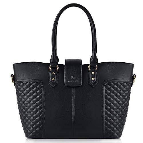 Bolsos de Mujer, Fanspack Bolso Negro Bolso Bandolera Bolso de Hombro Bolso Tote Bolsos Grandes Bolsos de Moda