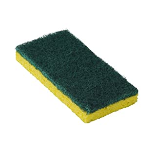 Americo Manufacturing 551011 Medium Duty 745 Scouring Sponges, Yellow Sponge and Green Pad (20 per Pack)