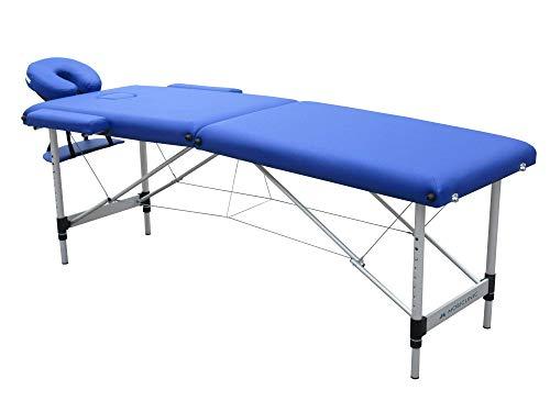 Camilla plegable de masaje | Aluminio | 186x60 cm | Azul | Modelo CA-01