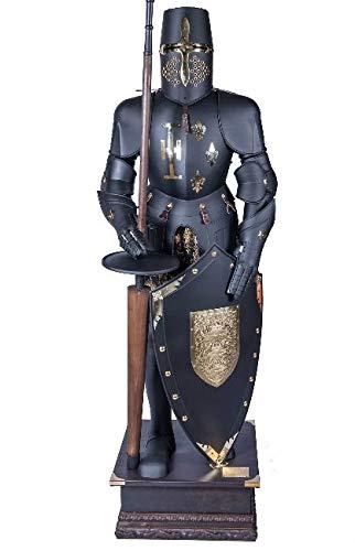 Mittelalterlicher epischer Ritter tragbar, kompletter Anzug von Rüstungs-Sammlerstücken, -