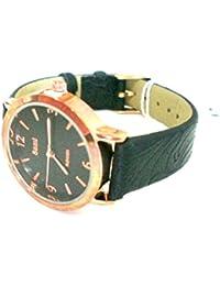 Sami RSM-81210-1 Reloj de Pulsera de Mujer Corona Cristal Correa Piel Negro