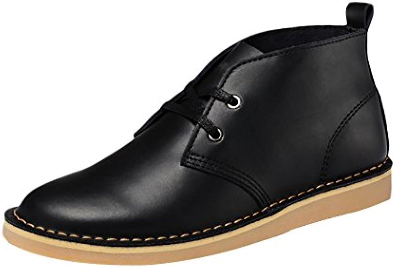 ICEGREY Herren Desert Boots Kurzschaft Stiefel  Stiefeletten Schwarz EU 44