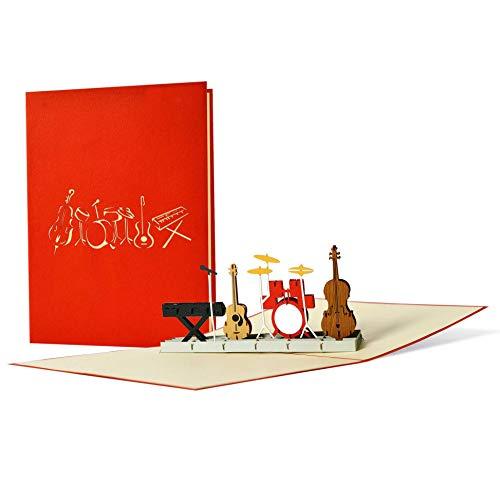 Geburtstagskarte für Musiker und Musikliebhaber I schöne Verpackung für Konzertkarten I ausgefallener Gutschein für einen Konzert oder Musical, Originell, H16