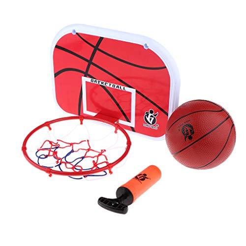 Fenteer Klein Basketballkorb Basketballbrett mit Ring und Netz (Basketball-netz Klein)