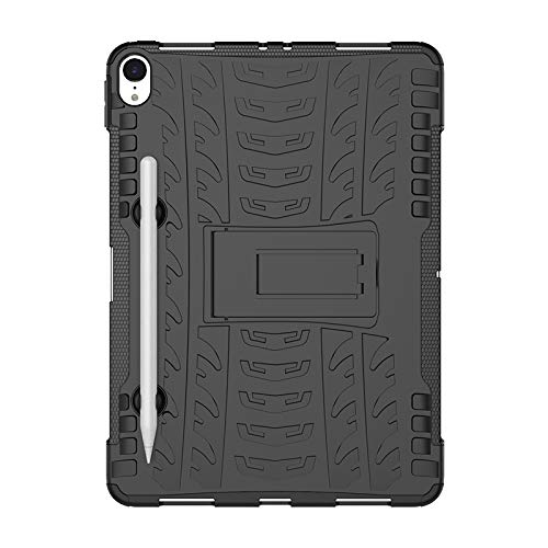 COVO® Apple iPad Pro (11 Inch)-Hülle Tough Hybrid Armor Case,Diese Handyhülle Anti-Wrestling Travel Essential Faltbare Halterung für Apple iPad Pro (11 Inch)(Schwarz)