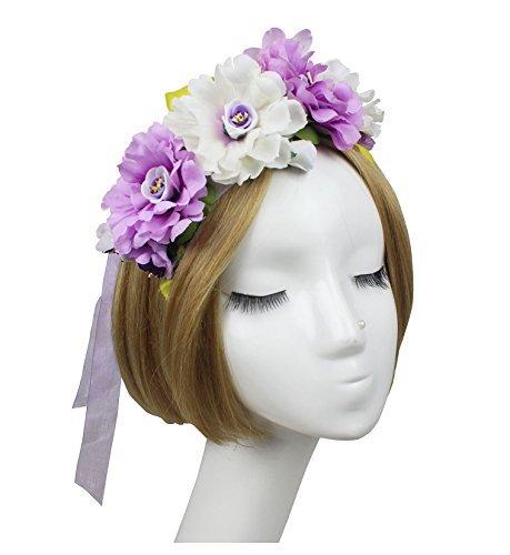 jelinda femmes fille Boho Fleur Couronne Bandeau Floral Couronne Guirlande