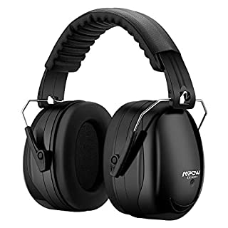 Mpow 035 Ear Defenders, SNR 34dB Noise Reduction Earmuffs with Soft Foam Ear Cups, Foldable Ear Defender for Hearing Protection, Shooting, Construction, Yard Work, Firework, Carry Bag included-Black
