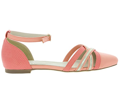 Andrea Conti SHOES Snake Schuhe Damen Ballerina Slipper Pink 123960 Pink