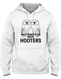 5a903dbbd02d3f T-Shirtshock Kapuzen-Sweatshirt fur Mann Weiss TRK0598 Nice Hooters