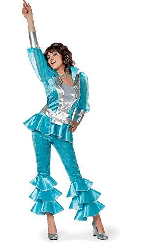 Jahre Kostüme 70 80er (70er 80er Jahre Kostüm Mama Mia Luxus Mottoparty 36-46)