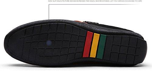 HYLM primavera e autunno nuovo merletto solido di colore scarpe di affari Scarpe casual degli uomini Black