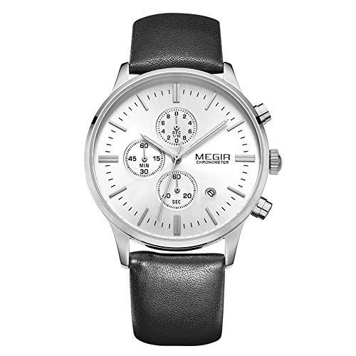 SW Watches Sportuhr Männer Top Marken Luxus Herren Lederuhren Leuchtend,D