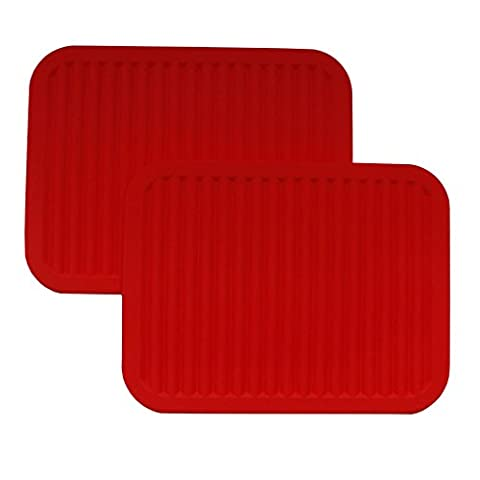 2 Pack Silicone Trivet Mats Hot Pads Pot Holders by