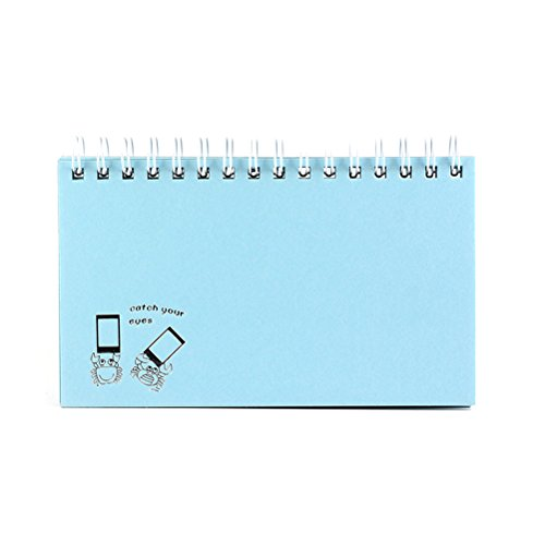 Zhuhaitf Compatible 60 Pockets Photo Album Films Fotospeicher for Fujifil Instax Mini 25 50s 7s 8 8+ 9 70 90 (Zwei Pocket-light Blue)