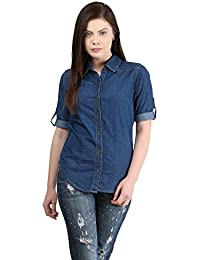 93340661bef94f DIMPY GARMENTS BuyNewTrend Denim Shirt for Women Girls
