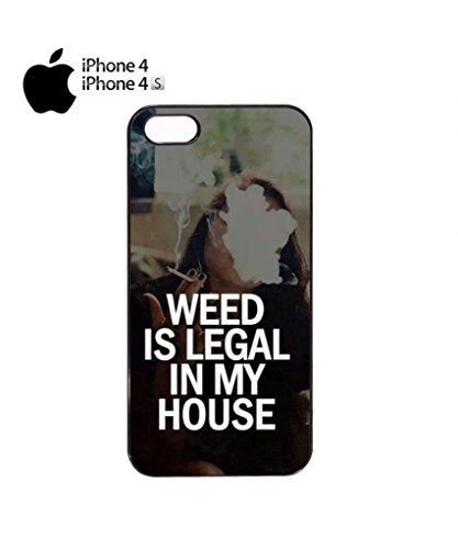 Weed is Legal in My House Cannabis Funny Hipster Swag Mobile Phone Case Back Cover Hülle Weiß Schwarz iPhone 5&5s Black Schwarz