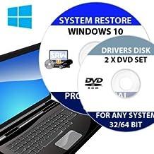 "Re INSTALL Repair Restore WINDOWS 10 ""PROFESSIONAL"" Edition 64 Bit PLUS DRIVERS PACK DVD PC Laptop Computer DVD CD Disc Disk"