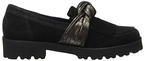 glitter Derbies nero Black Gabor Ladies Fashion ZYnpXWx6a