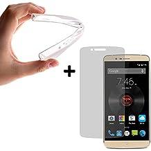 BeScreen - Funda Gel Flexible Elephone P8000 [ +1 Protector Cristal Vidrio Templado ] Carcasa Case Silicona TPU Suave