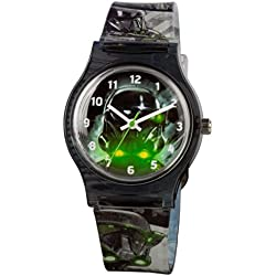 Star Wars Boy's Quartz Watch with Black Dial Analogue Display and Black Plastic Strap STAR444