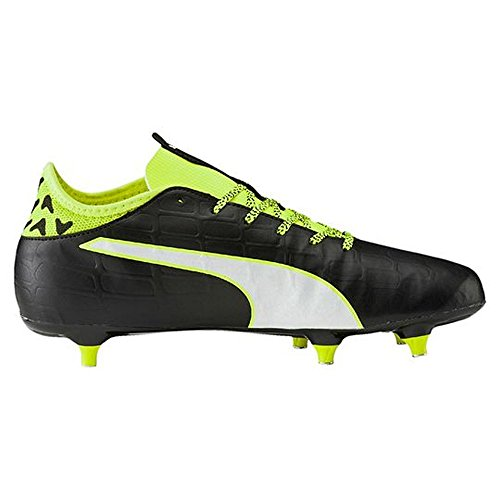 Puma Evotouch 3 Sg, Chaussures de Football Compétition Homme Schwarz (black-white-safety yellow 01)