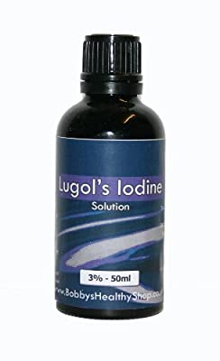 Lugol's Iodine 3% - 50ml - Glass Bottle with Dropper Insert from HealthCentre