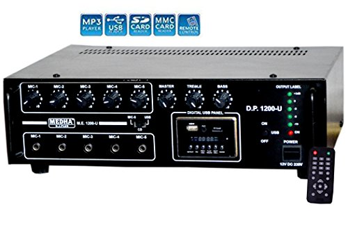 Medha D.J. Plus 120 Watt P.A. Amplifier With Digital Media Player