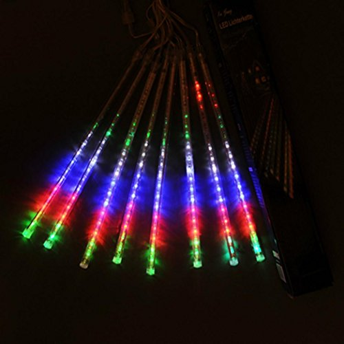 Multi Color Christmas Tree (Hunpta 30CM LED Lichter Meteor Dusche Regen Schneefall Xmas Tree Garden Outdoor (Multicolor))
