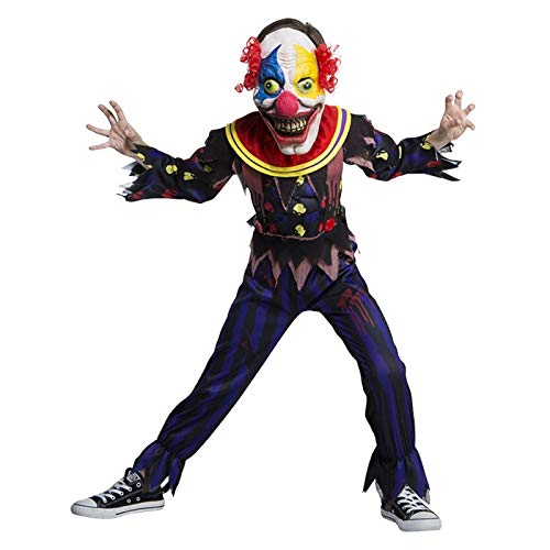 Childrens and Kids Scary Clown Costume for Halloween Including Mask