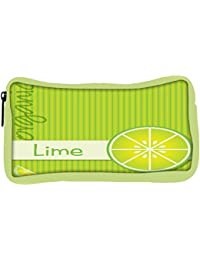 Snoogg Eco Friendly Canvas Bright Organic Lime Card In Vector Format Student Pen Pencil Case Coin Purse Pouch...