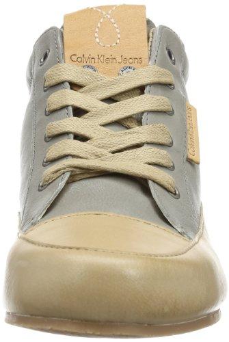 Calvin Klein Jeans NAN SHINY BUFFALO RE8896 Damen Bootschuhe Grau (SKY)