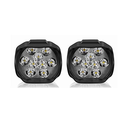 Luci a LED di Chengxin, Nuovo 2-Pack moto luminosa a LED Super Bright ad alta potenza 9LED 15W faro bianco Luce di lavoro Guida Fendinebbia Spotlight da lavoro 1500lm