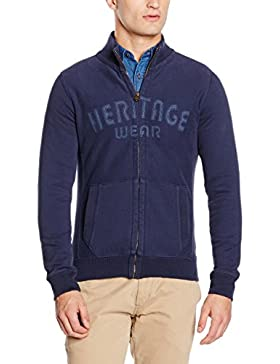 camel active Herren Strickjacken Stand-Up Jacke