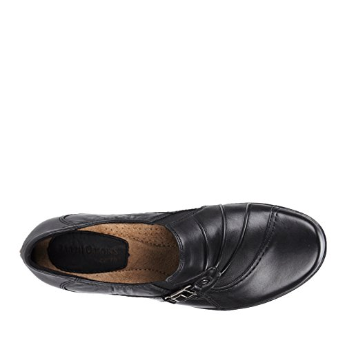Earth Origins Roxanne Rund Leder Slipper Black