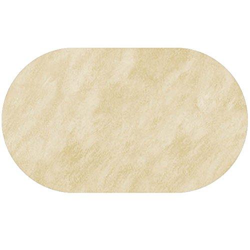 DecoHomeTextil Wachstuch Leicht Marmoriert Rund Oval Größe & Farbe Wählbar Oval ca. 140 x 200 cm Beige Creme abwaschbare Tischdecke