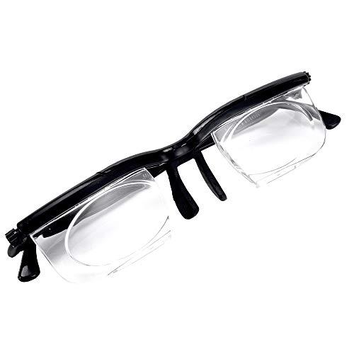 ZUZEN Neue Objektivbrillen mit Einstellbarer Stärke und Variabler Fokusentfernung Zoom-Brille Schutzlupe mit Aufbewahrungstasche