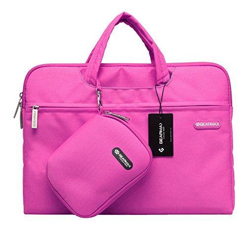 Urcover Laptoptasche 15 Zoll (46 cm), Notebooktasche Campus Slim Edition Aktentasche Tasche für Laptop Notebook MacBook mit Einer Kunstoff Tasche + Mauspad Pink