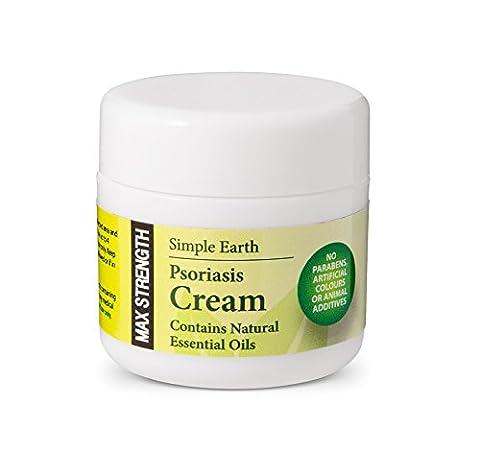 Simple Earth Max Strength, Advanced Psoriasis Cream Soulager la démangeaison, apaiser la peau enflammée 50ml