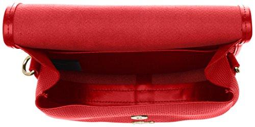 Lacoste Damen Chantaco Umhängetaschen, 6.5x21x22 cm Rouge (High Risk Red)