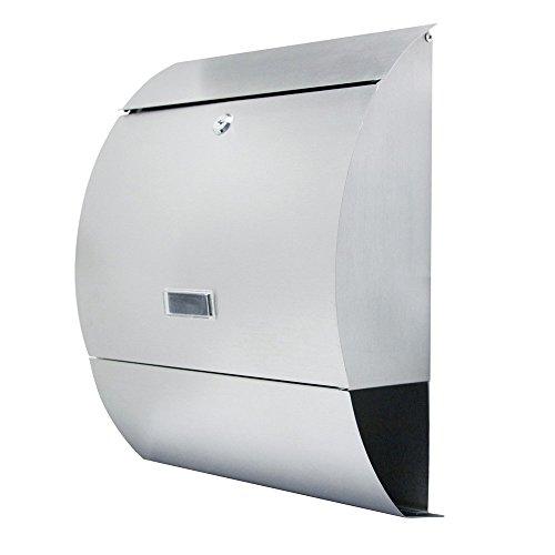Mctech cassetta per lettere, cassetta delle lettere cassetta in acciaio inox spazzolato post mailbox giornale posta a parete cassetta postale letter box (e type)