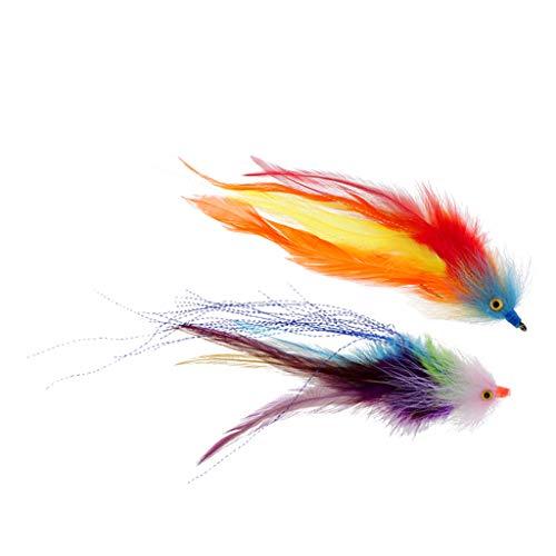 CUTICATE 2 Stücke Haken/Rohr Forelle Lachs Steelhead Fliegenfischen Streamer Fliegt Salzwasser -