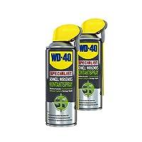 2x 400ml de WD 40Specialist Contact Spray nettoyant contact électronique Spray Contact électronique Spray rapidement efficace Smart paille avec tête de pulvérisation intégré