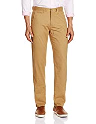 Van Heusen Mens Formal Trousers (8907445955020_VSTF316S07276_82/32W x 32L_Dk Beige)