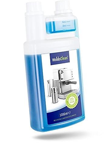 WoldoClean Milchsystemreiniger Milchschaum-Reiniger 1 Liter für Kaffeevollautomaten und Kaffee-Maschinen