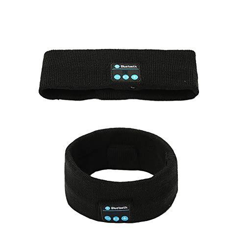 Demarkt Drahtlose Bluetooth-Stirnbandkopfhörer für Frauen Männer - Sport-Stirnband mit Stereo-Lautsprechern Kopfhörer zum Laufen Yoga Radfahren Schlaf Gym Fitness