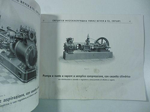 Erfurter maschinenfabrik. F. Beyer & Co. Erfurt. Pompe d'aria e compressori